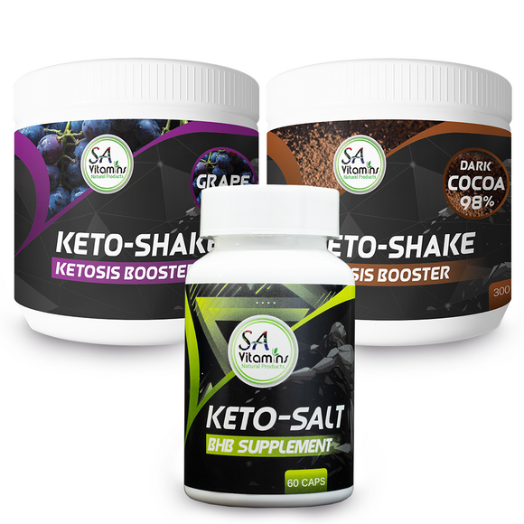 Keto Caps & Shake (Cocoa or Grape Flavour)