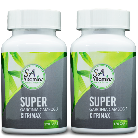 x2 Super Garcinia Cambogia with calcium, potassium and chromium 120 caps