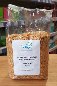 Iechyd Organically Grown Golden Linseed 500mg Non GM