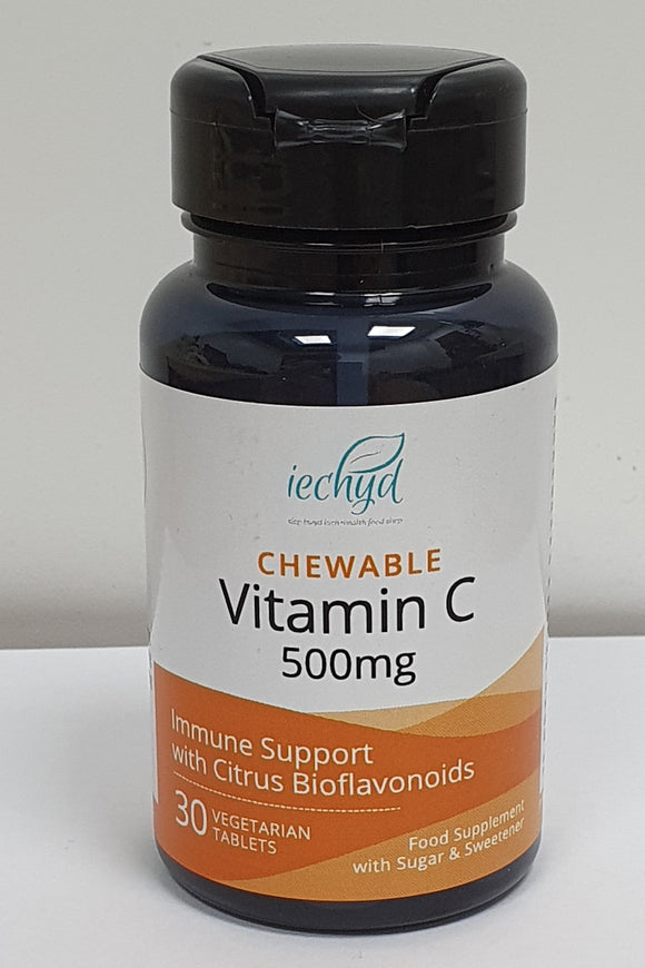Iechyd Chewable Vitamin C 500mg 30 Vegetarian Tablets