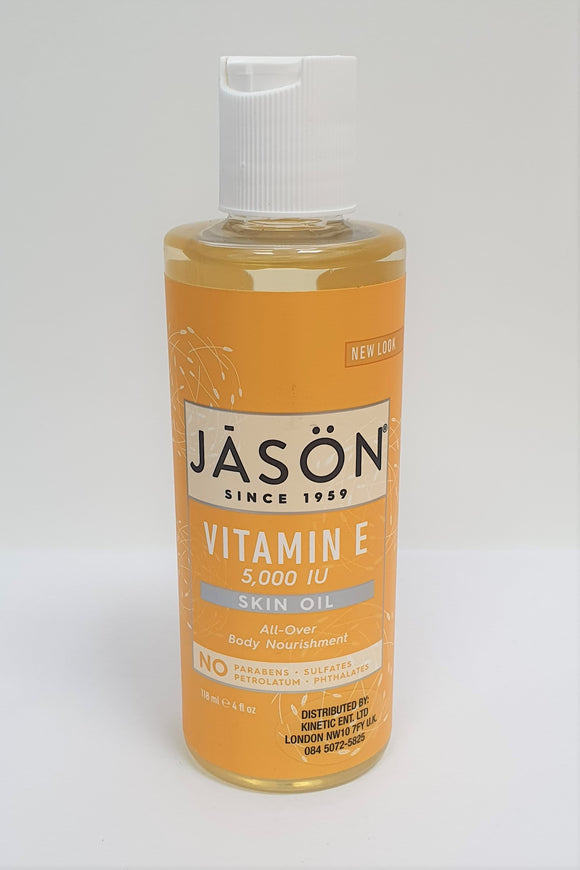 Jason Vitamin E 5,000 IU Skin Oil All-Over Body Nourishment 118ml
