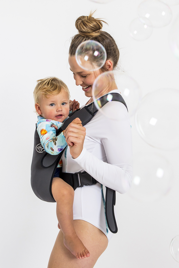 The Explorer Neoprene Baby Carrier - Carbon Grey