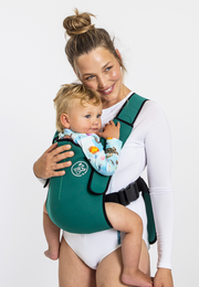 The Explorer Neoprene Baby Carrier - Deep Green