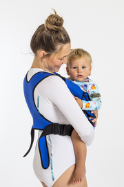 Frog Orange Explorer baby Carrier - Royal Blue - side view of easy to adjust straps