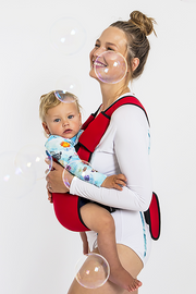 The Explorer Neoprene Baby Carrier - Bright Red