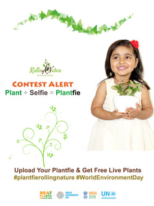 """Plantfie FB Contest"" and ""Say No to Artificial Plants Campaign"" By Rolling Nature"