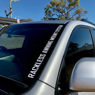 Rackless Awning Mount System Decal