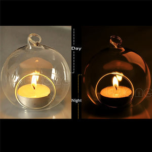 Hanging Glass Ball Candle