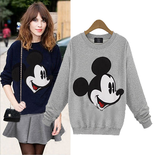 women cute Mickey mouse  long sleeve sweatshirt