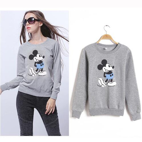Cute Mickey Women Long Sleeve  Sweatshirts