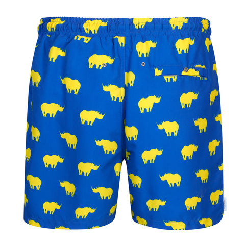 Rhino Blue and Yellow Swim Shorts