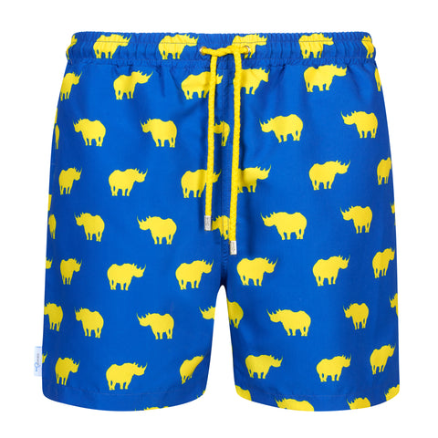 Blue mens rhino swim shorts