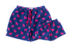 Navy and Magenta Gorilla print swim shorts
