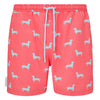 Dachshund print men's swim shorts trunks swimwear
