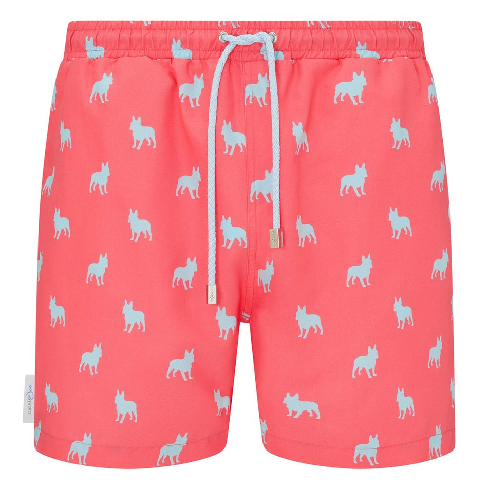 French Bulldog print men's swim shorts trunks swimwear