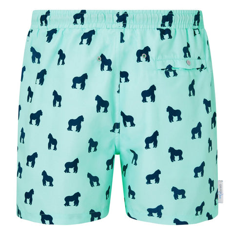 Gorilla print men's swim shorts trunks swimwear