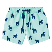 Mint Navy Gorilla Swim shorts trunks kids swimwear child