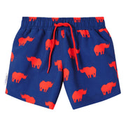 Navy Red Rhino Swim shorts trunks kids swimwear child