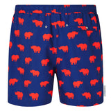 Rhino print men's swim shorts trunks swimwear