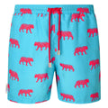 Tiger print men's swim shorts trunks swimwear