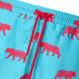 Blue Pink Tiger swim shorts trunks mens swimwear