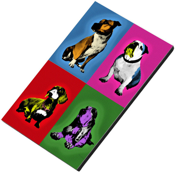 Great British Pub Dogs Andy Warhol Bulldog Dachshund Staffie Basset Hound Magnet