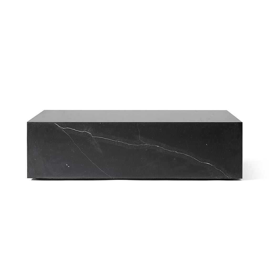 Plinth Low - Black marble marquina