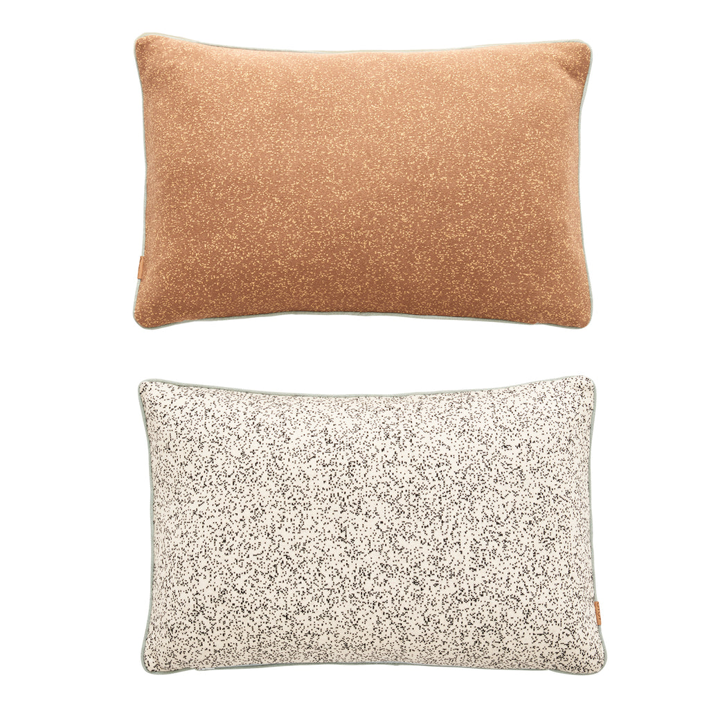 Taro Cushion - Camel / Offwhite