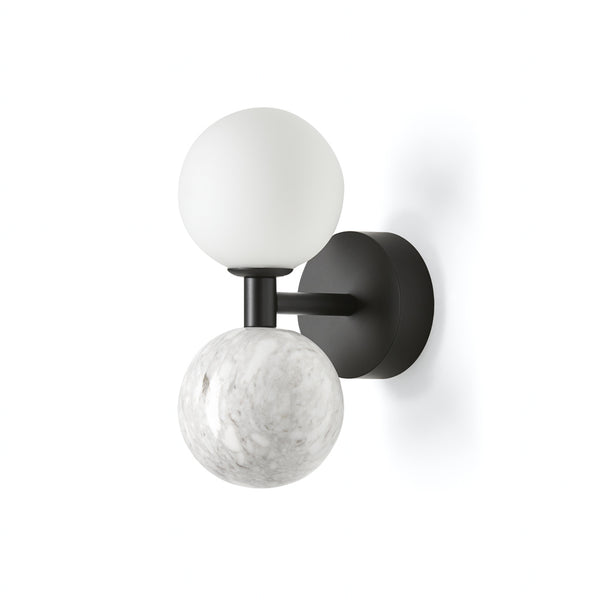 Dalt Aplique - Matt Black White Marble