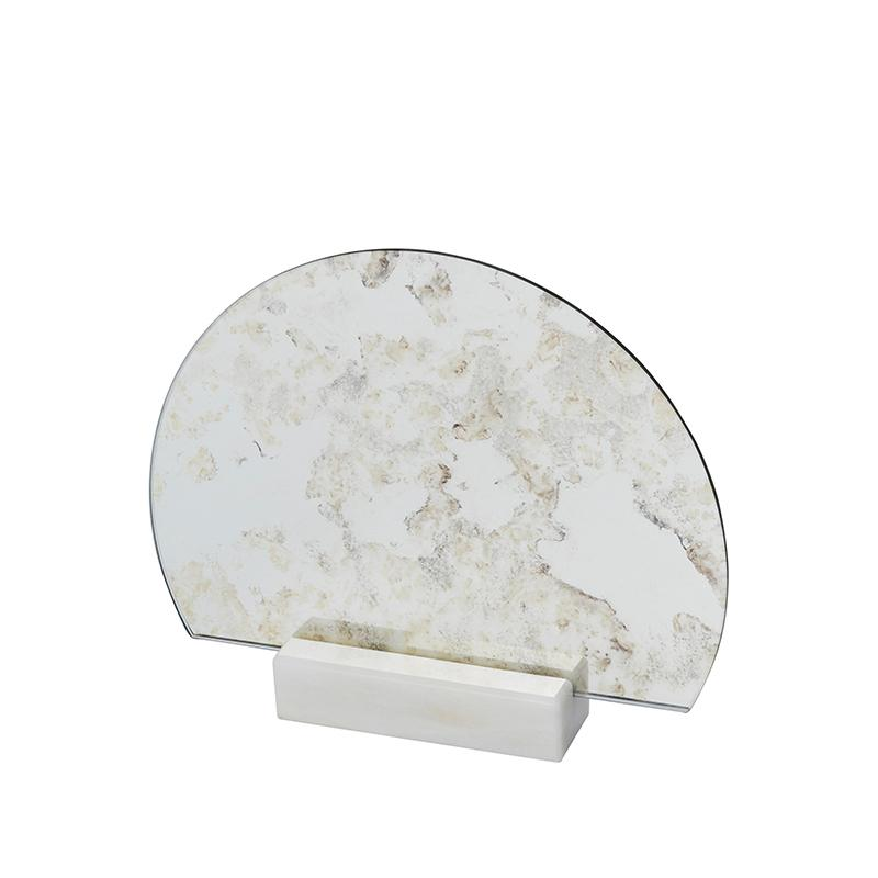 Half Moon Antique Mirror Marble