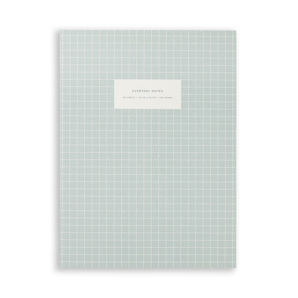 Large Notebook - Check Light Blue