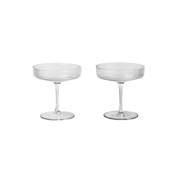 Ripple Champagne Saucers (set of 2)