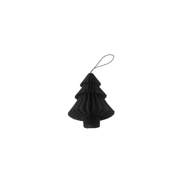 Tree folded ornament - Black