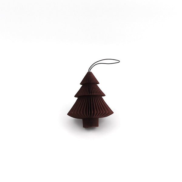 Tree folded ornament  - Dark red