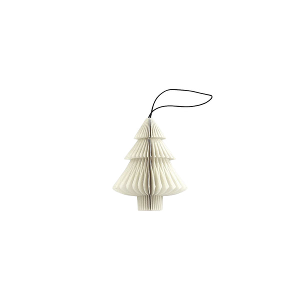 Tree folded ornament  - White