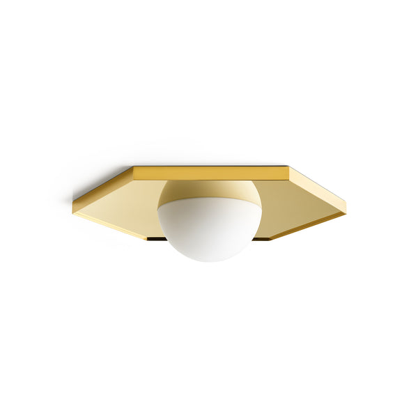 Holo Light Ceiling - Hexagon Brass