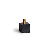 Block Candle Holder - Black Marquina