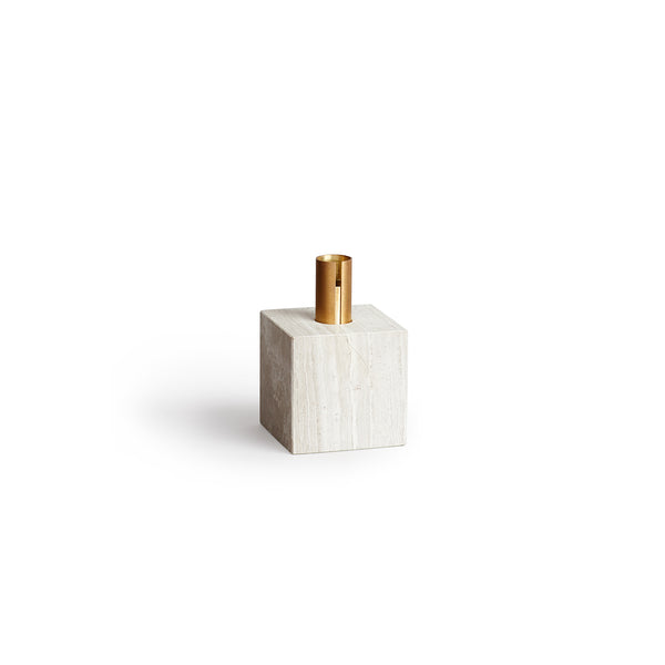 Block Candle Holder - Light Fossil