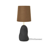Hebe Lamp Medium - Black with Curry Lampshade