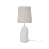 Hebe Lamp Medium - Off White with Natural Lampshade