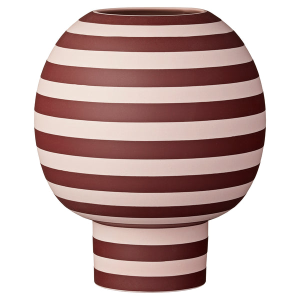 Varia Sculptural Vase Rose/Bordeaux
