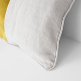 Large Cushion Ochre & Linen