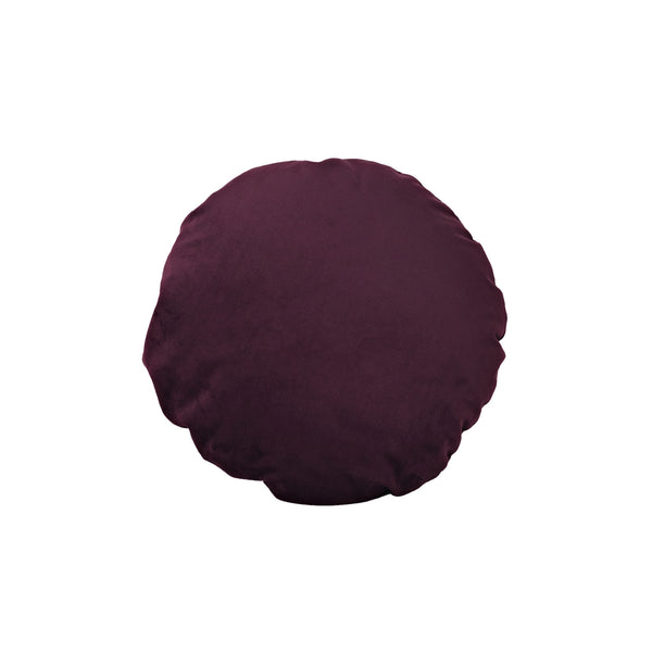 Round Cushion Bordeaux