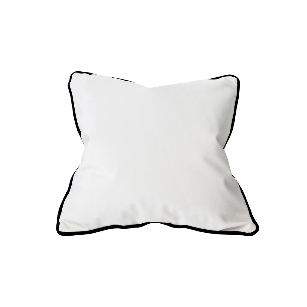 Square Cushion Off White/Black Trim