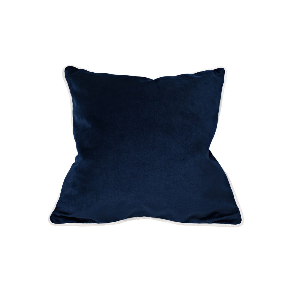 Square Cushion Navy/Off White Trim