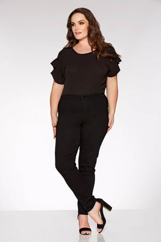 Curve Black Stretch High Waist Jeans