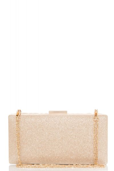 Gold Pleat Box Bag