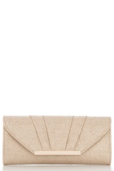 Gold Shimmer Pleat Bag