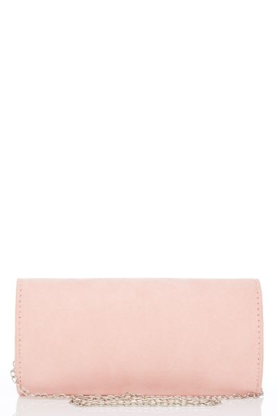 Pink Diamante And Pearl Trim Bag