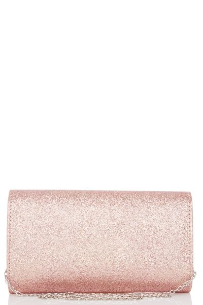 Rose Glitter Metal Trim Bag